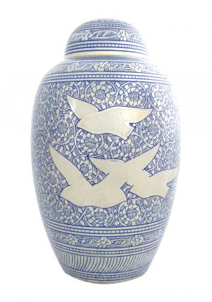 Extra Large Dome Top Going Home Doves Adult Urn for Ashes