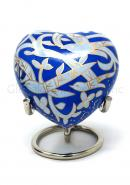 Flying Bird Heart Keepsake Funeral Urn