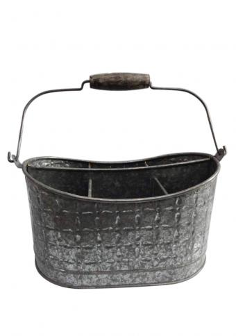 Galvanised Planter with Acid Wash
