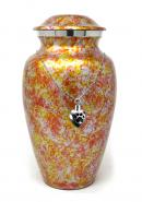 Garden Floral Aluminium Adult Ashes Urn, Memorial Cremation Urn+ Free jewellery Urn