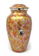 Garden Floral Aluminium Adult Ashes Urn, Memorial Cremation Urn+ Free jewellery Urn