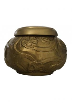 Golden Climbing Roses Keepsake Cremation Urn