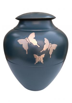 Golden Flying Butterflies Adult Cremation Funeral Urn