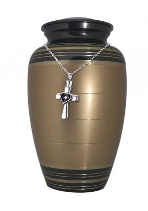 Golden Palace Large Adult Memorial Urn for Ashes+ Free jewellery Urn