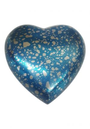 Grecian Blue Heart Keepsake Memorial Cremation Urn UK