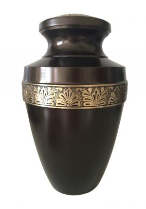 Beautiful Large Gercian Brown Adult Funeral Urn For  Ashes UK