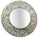 Green Antique Sun Burst Round Iron Mirror Frame