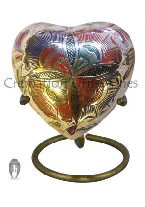 Beautiful Small  Farnham Flower Heart Keepsake Cremation Urn For Human Ashes UK