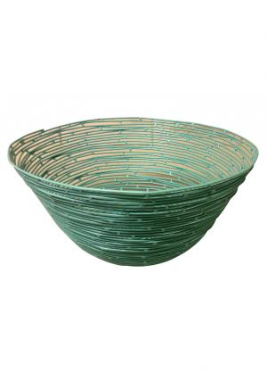 Green Color Iron Wire Round Storage Basket, Wire Storage Basket