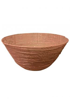 Pink Color Iron Wire Round Storage Basket, Wire Storage Basket