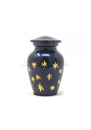 Keepsake (Blue With Silver Stars) Funeral Human Ashes Urn, Cremation Urns Ashes
