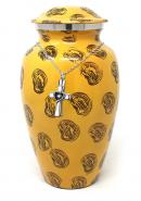 Large Aluminium Ashes Container Adult Funeral Urn+ Free jewellery Urn