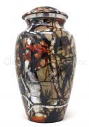 Large Aluminium Camouflage Cremation Urn