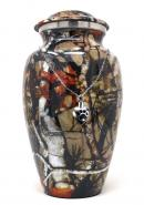 Large Aluminium Camouflage Cremation Urn+ Free jewellery Urn