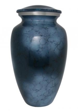 Large Aluminium Cremation Urn For Human Ashes, Adult Aluminium Urn