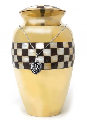 Large Cremation Urn Adult for Human Ashes+ Free jewellery Urn