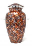 Large Floral Aluminium Cremation Urn Adult