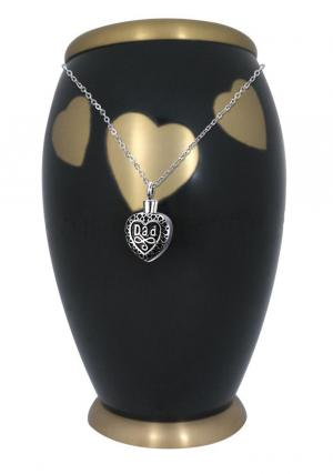 Large Fluttering Monarch Hearts Adult Urn For Human Ashes+ Free jewellery Urn