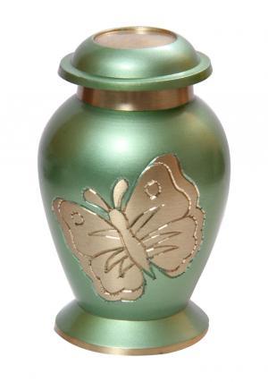 Lite Teal Butterfly Small Keepsake Urn