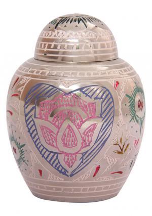 Small Lotus Heart Cremation Keepsake Urn Ashes
