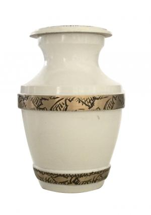 Majestic White Pearl Keepsake Urn