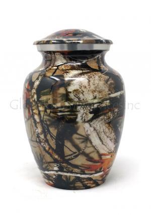 Medium Aluminium Camouflage Cremation Urn