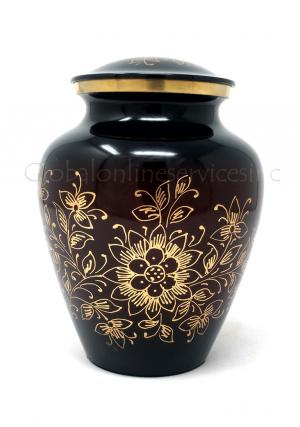 Medium Beautiful Floral Cremation Urn for Ashes