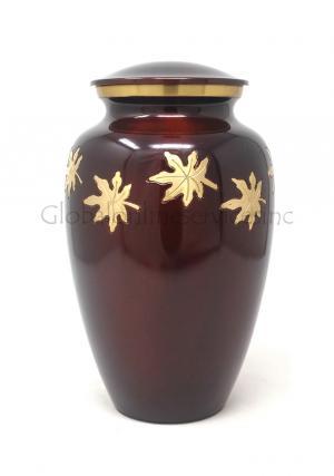 Medium Falling Leaves Cremation Urn