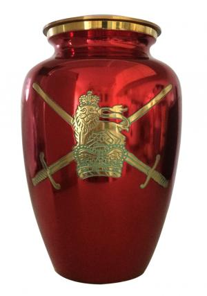 Military Symbol Red Cremation Adult Urn