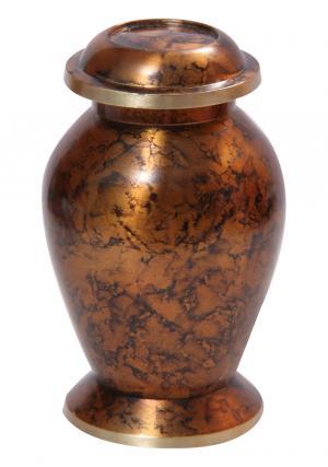 Plain Clay Brown Small Keepsake Brass Urn
