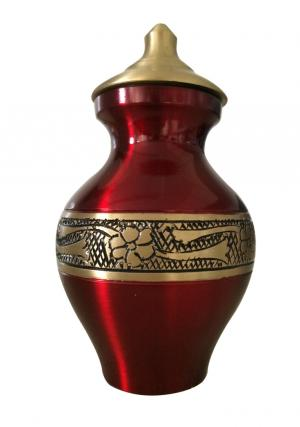 Mini Engraved Matt Cherry Keepsake Urn
