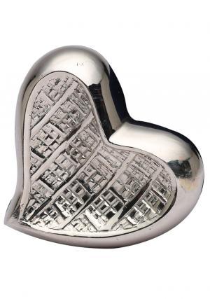 Mini Theale Nickel Heart Keepsake Memorial Urn Ashes