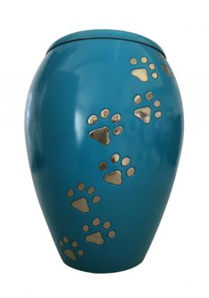 Monarch Blue Climbing Paw Pet Urn