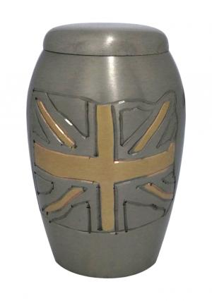 Monarch British Flag Graphite Keepsake Urn
