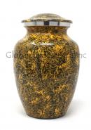 Natural Punga Colour Aluminium Medium Cremation Urn for Ashes.