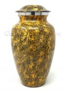Natural Punga Colour Aluminium Large Cremation Urn for Ashes.
