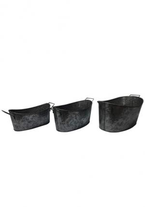 Pack of 3 Trendy style Metal Buckets