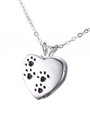 Pet Cremation Jewellery Heart Shape Pendant Urn For Ashes, Necklace