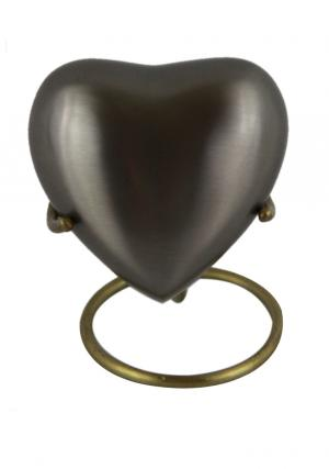 Pewter Heart Keepsake Urn for Ashes
