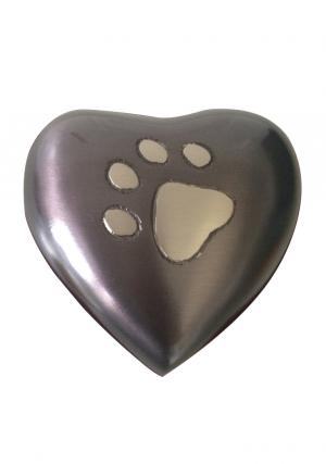 Keepsake Pewter Pet Heart Shaped Grey Memorial Small Urns.
