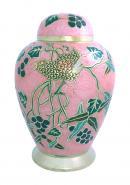 Pink Garden Design Adult Cremation Urn, Funeral Urn