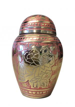 Pink Rose Engraved Small Keepsake Urn
