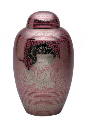 Pink Rose Large Adult Cremation Urn for Ashes, Big Urns
