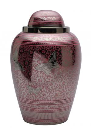 Portland Pink Butterflies Large Adult Cremation Urns for Human