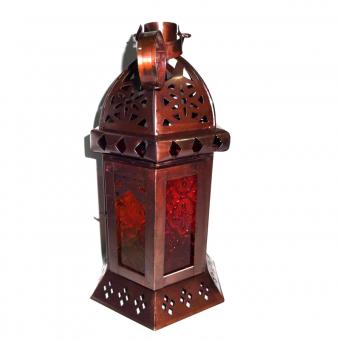 Set of 7 Red &Yellow Color Moroccan Lantern