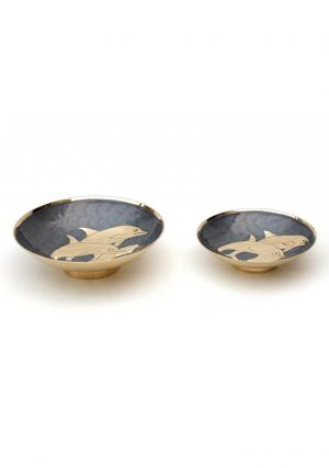 Set of 2 Aluminium Enamel Fair Trade Bowls