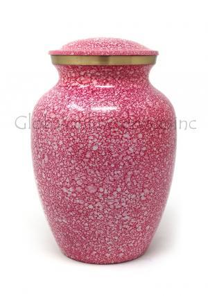 Shimmer Pink Medium Cremation Urn for Ashes