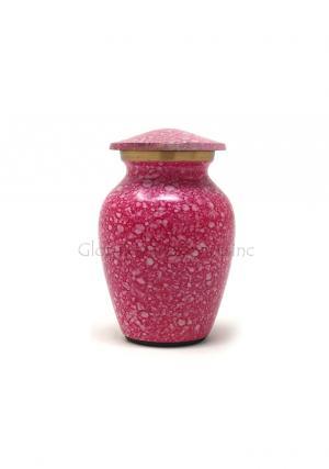Shimmer Pink Mini Keepsake Cremation Urn for Ashes