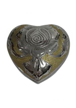 Silver/Gold Heart Keepsake Urn
