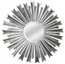 Silver Sunburst 34 Inches Splendor Iron Mirror Frame